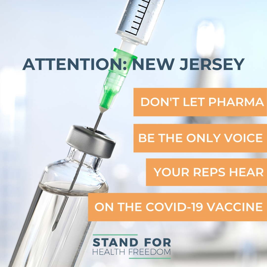 Take Action Now: The pharmaceutical industry is briefing your reps. Make sure that your voice is heard in Trenton too.