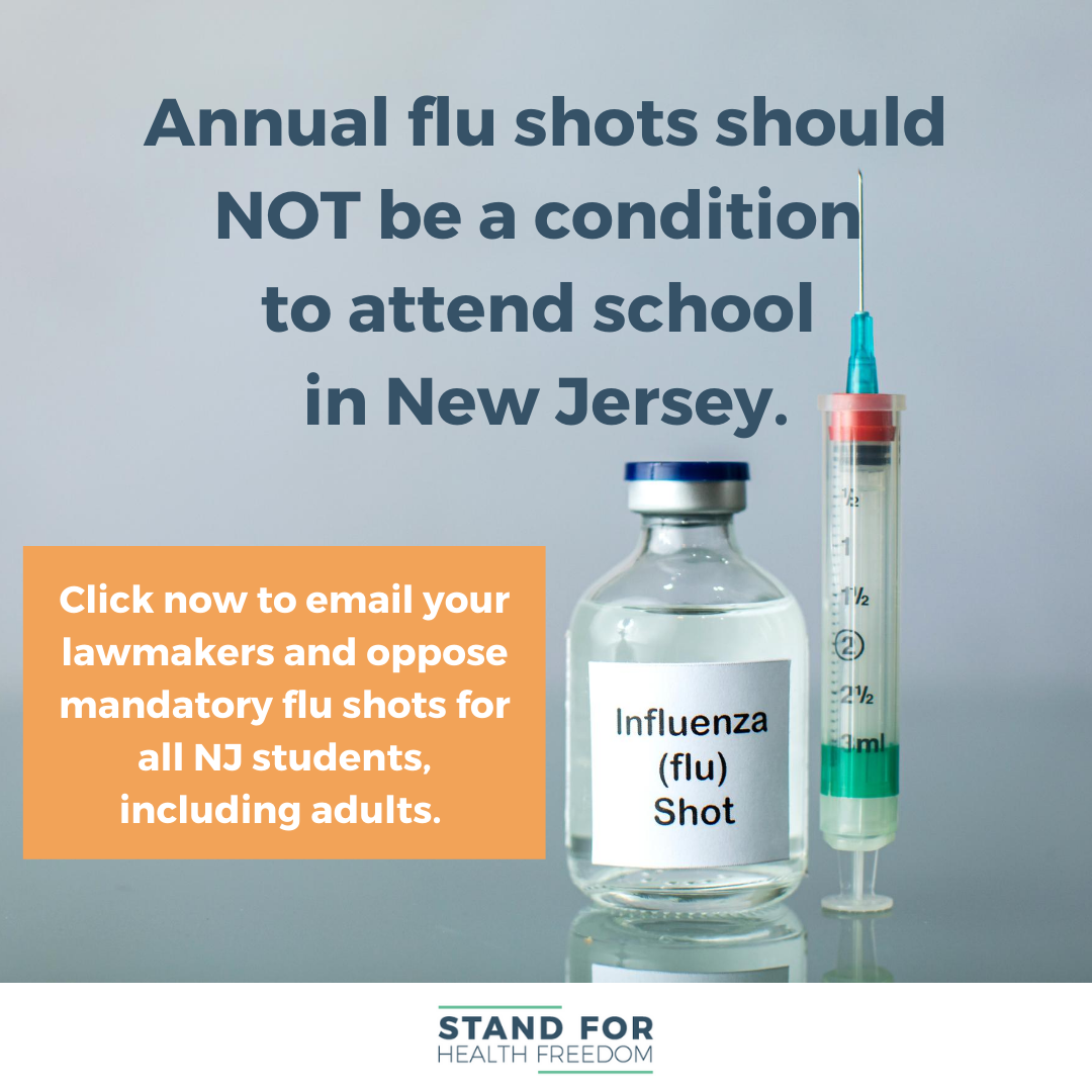 Act Now: Tell Your Lawmakers Not to Mandate The Flu Shot For All NJ Students!