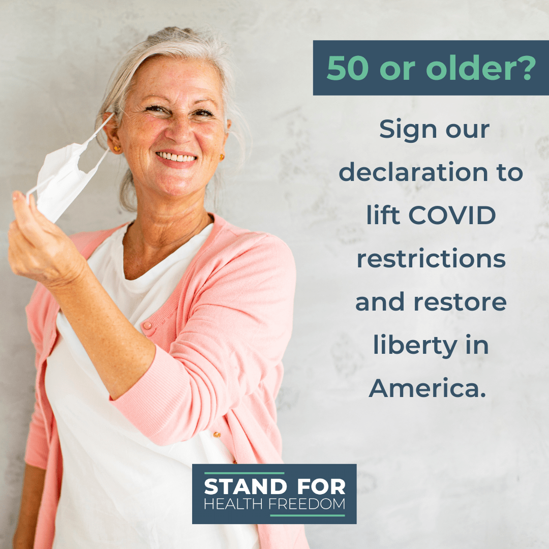 A Declaration of Older Folks, Age 50 and Up, Standing for Health Freedom During COVID-19
