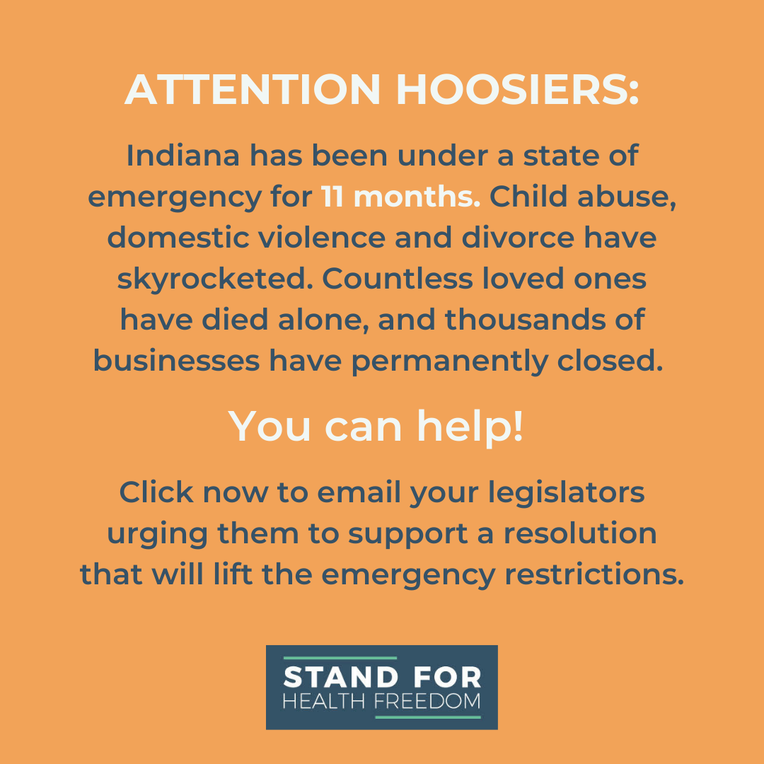 ACT NOW INDIANA: Click to support a resolution ending the state of emergency in Indiana!