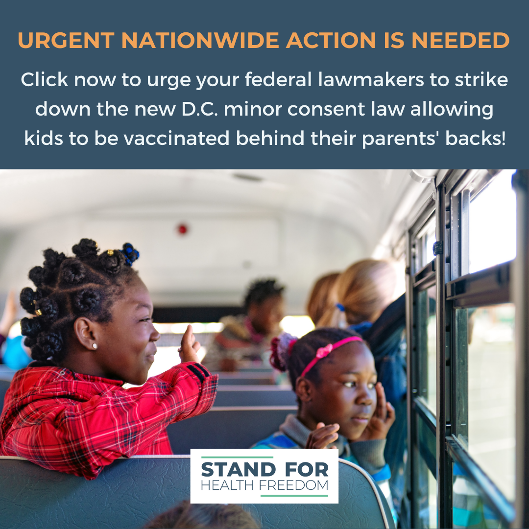 URGENT: Tell Congress to Strike Down D.C. Law That Removes Parents from a Child's Healthcare