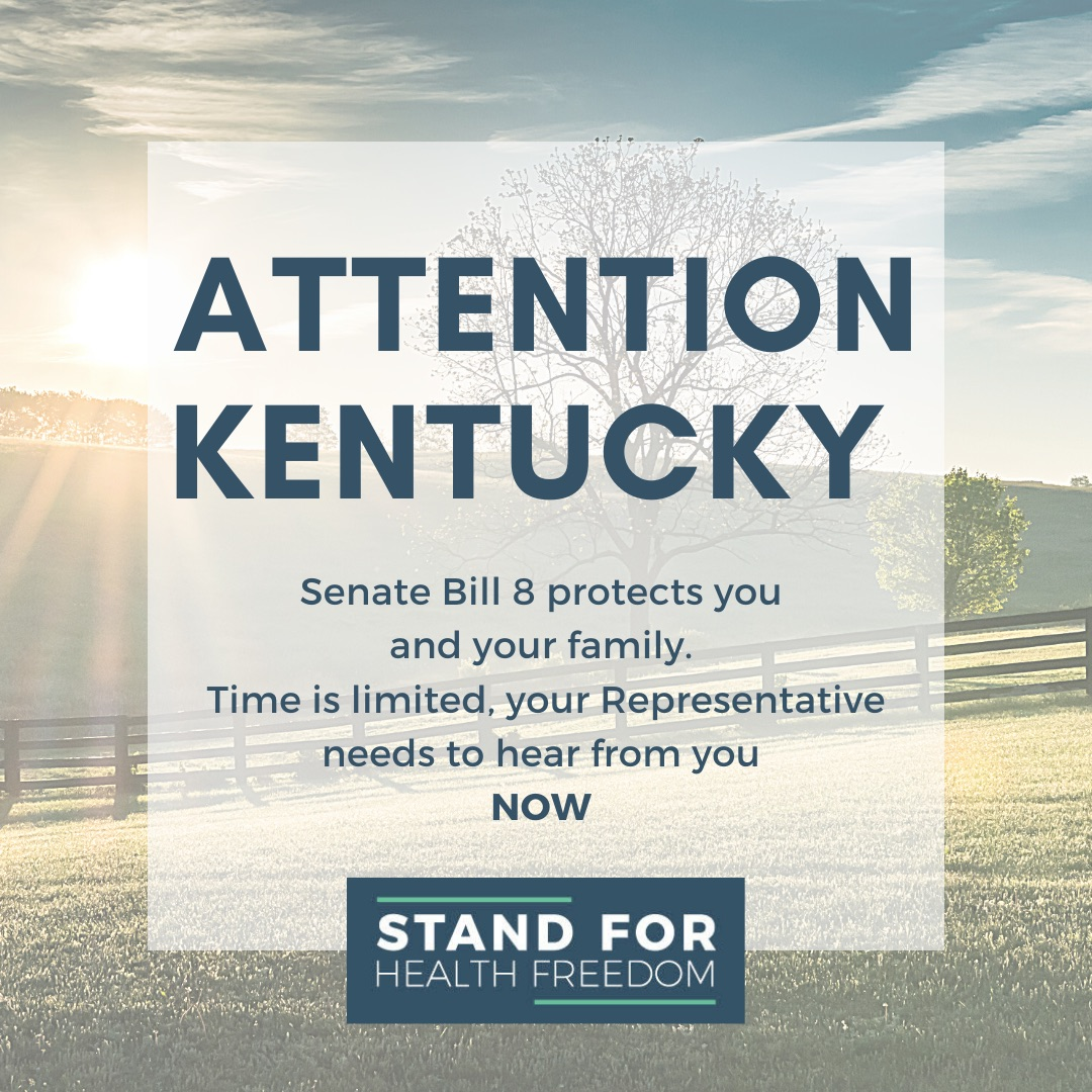 Kentucky law allows forced vaccination in an epidemic, Senate Bill 8 protects you and your family