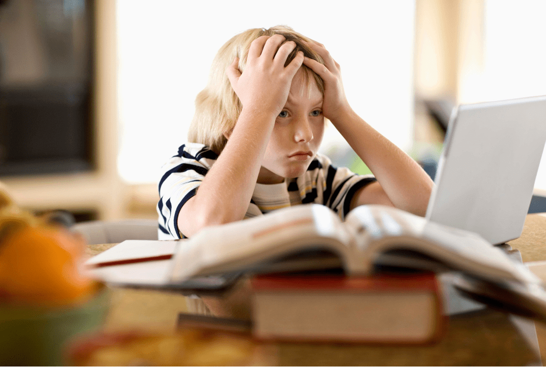 Frustrated Kid Learning min