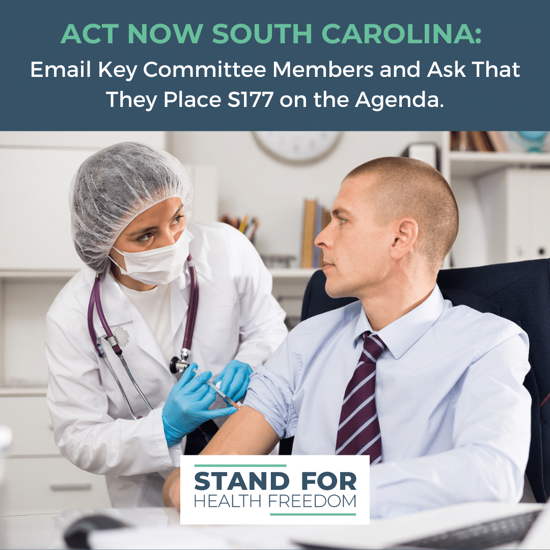 ACT NOW SOUTH CAROLINA: Email Key Committee Members and Ask That They Place S177 on The Agenda.