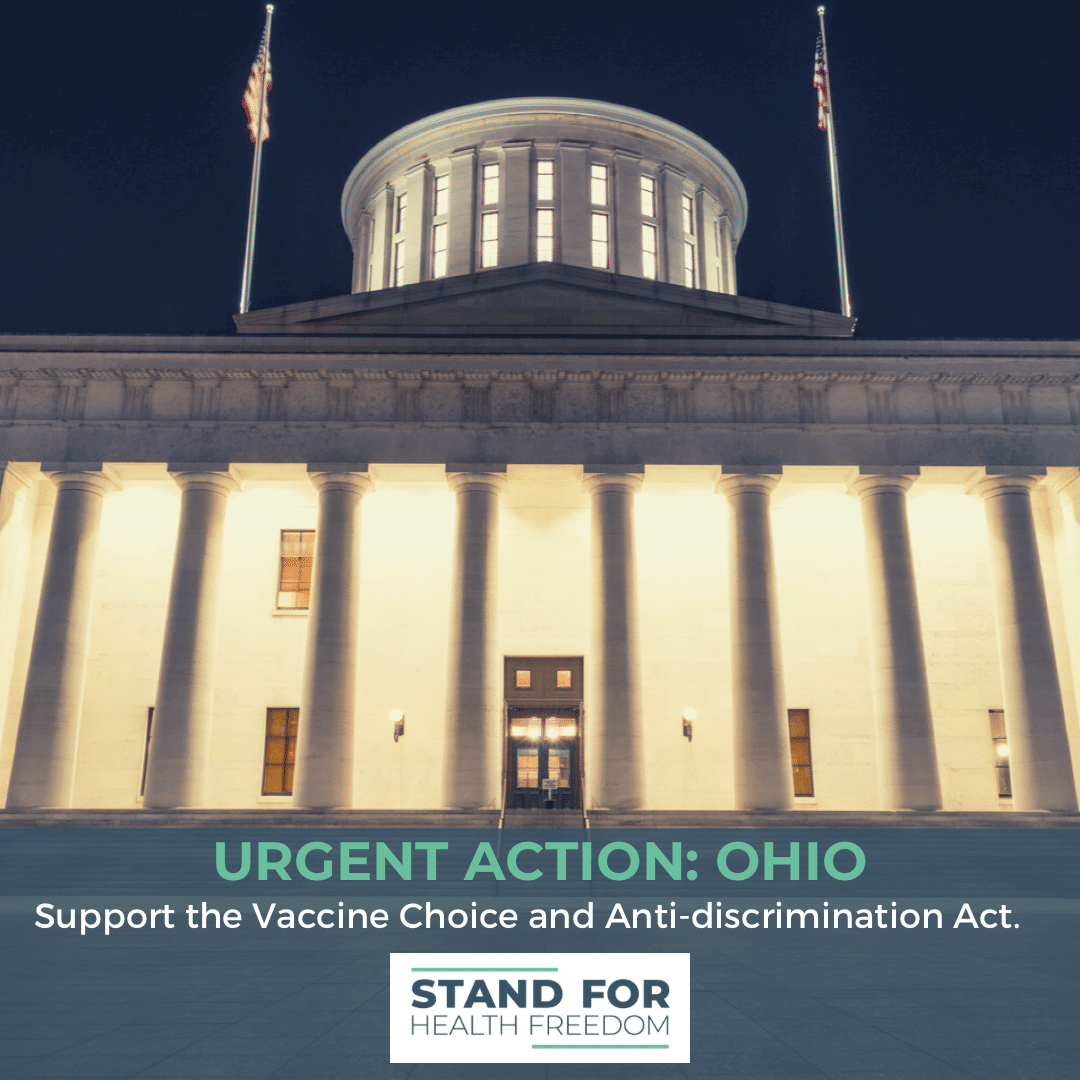 Action Needed Ohio: Urge Your Representatives to Support the Vaccine Choice and Anti-discrimination Act