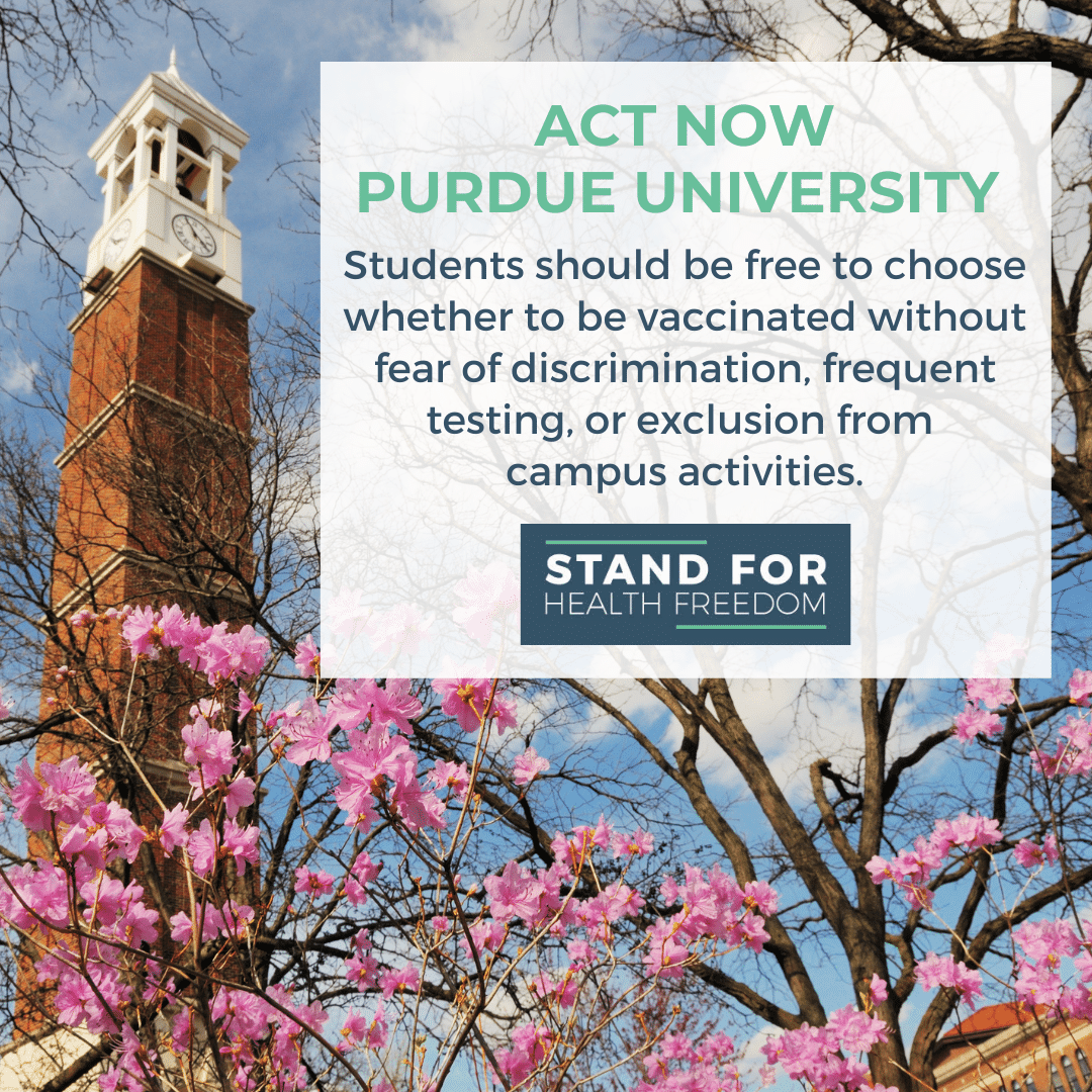 If you are a Purdue family, click below to sign the petition opposing discriminatory practices based on vaccine status
