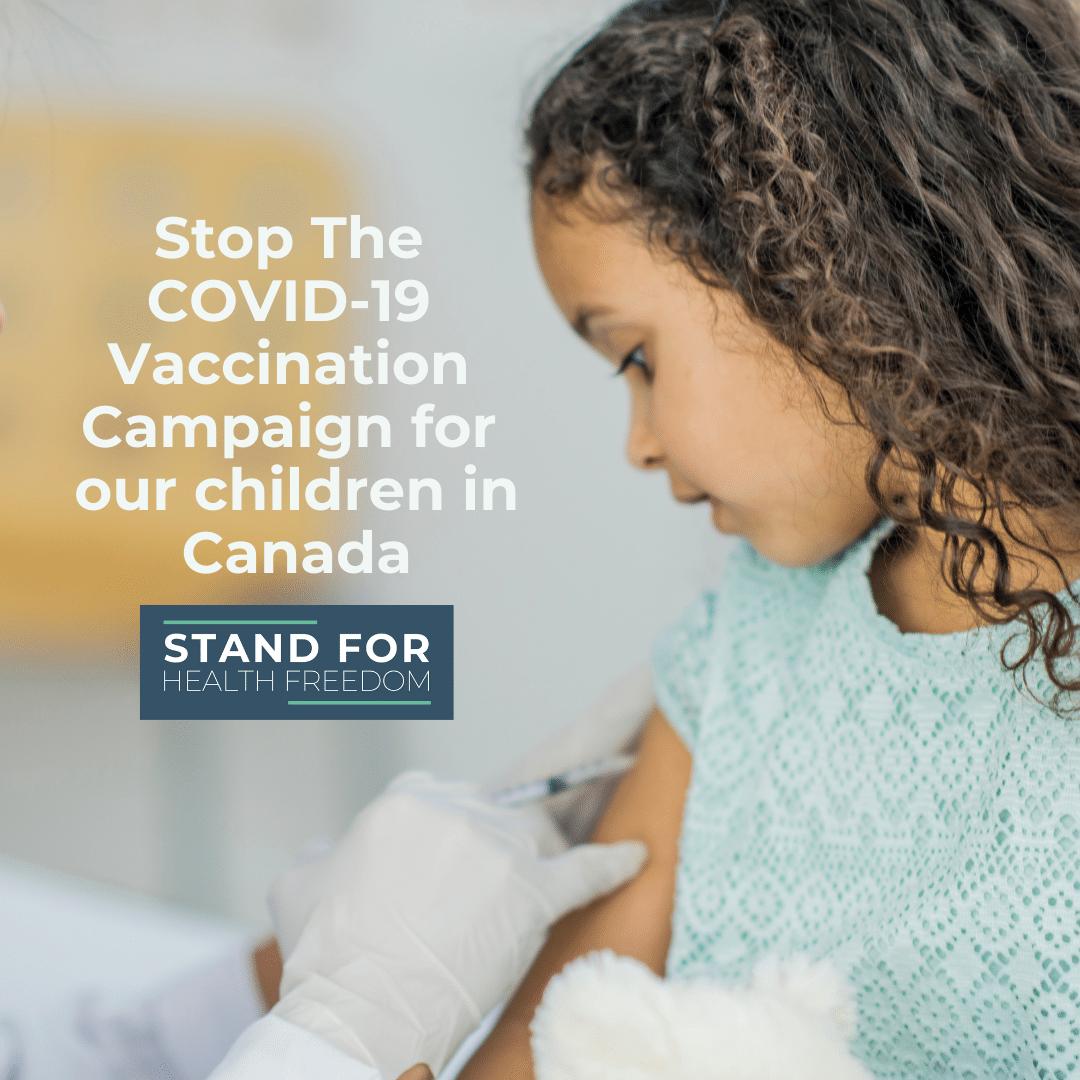 Stop COVID-19 vaccination campaign for children