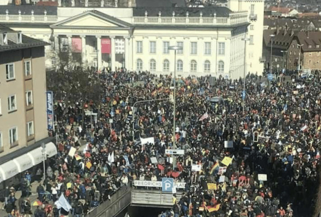Demonstration in Germany, May 15, 2021