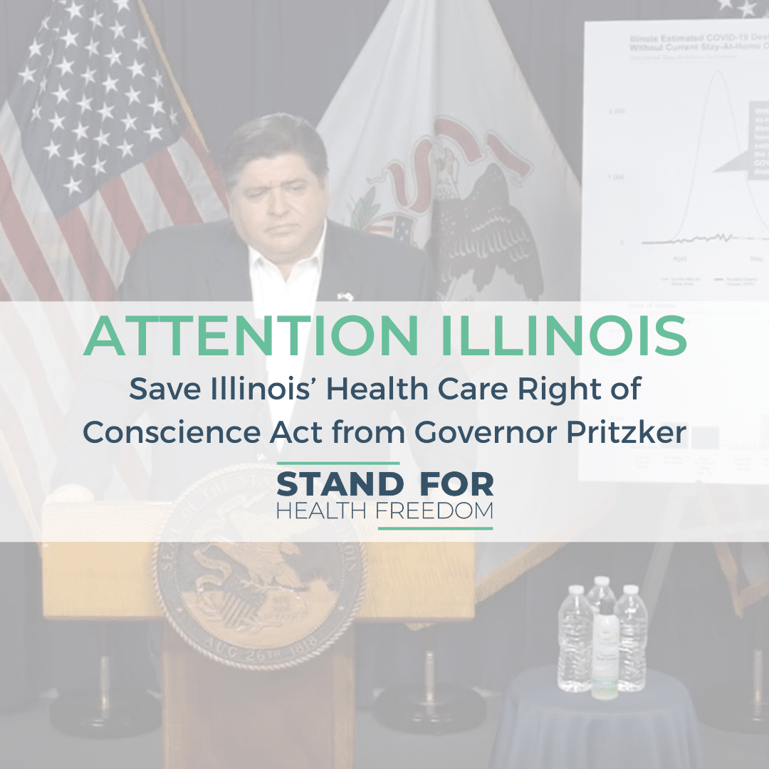 Email, Tweet, and Call – Save Illinois' Health Care Right of Conscience Act from Governor Pritzker's Usurpation*