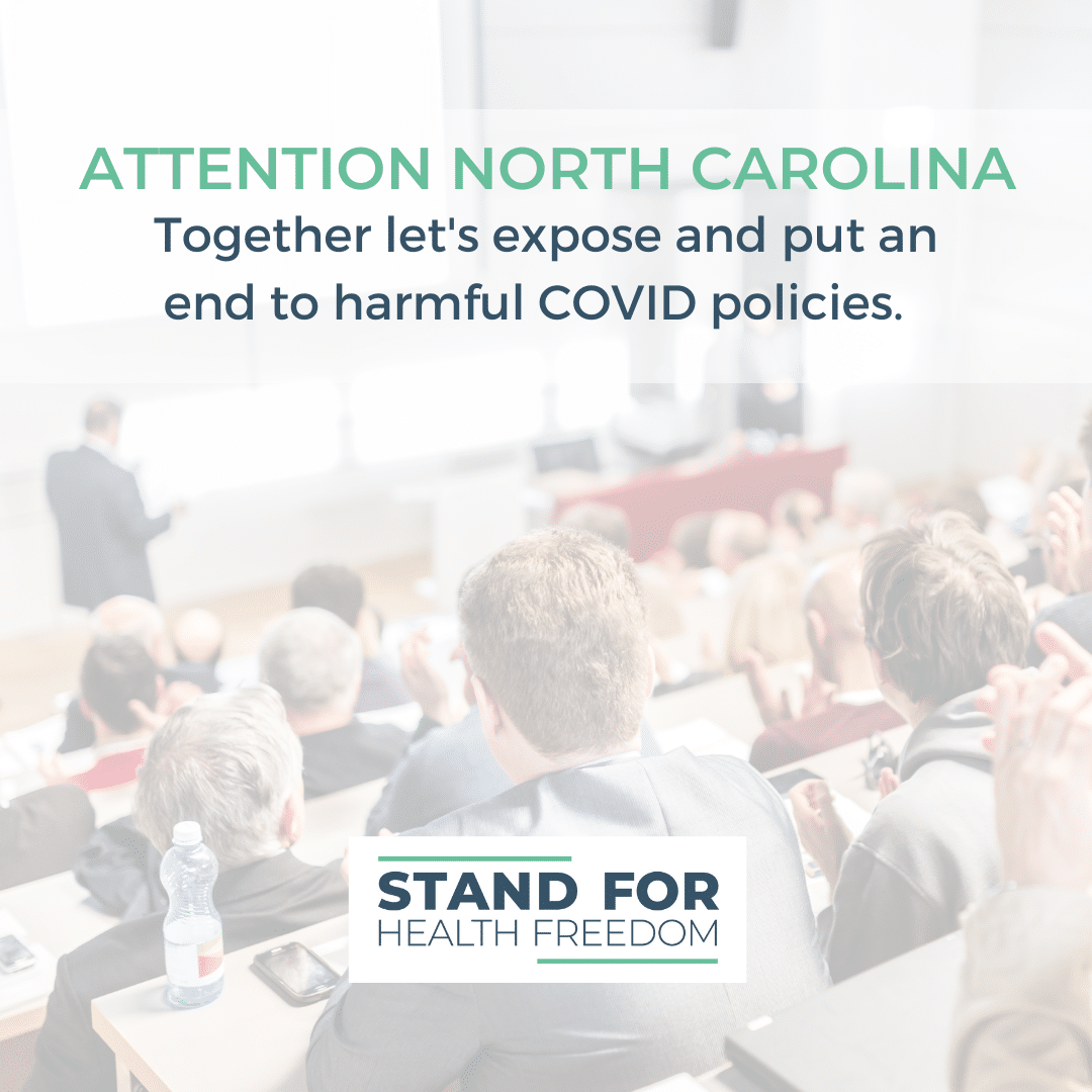 North Carolina: Urge your legislators to attend a special COVID-19 summit to hear testimony from scientists, medical professionals, and citizens.